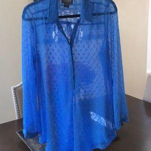 Sheer sky blue blouse